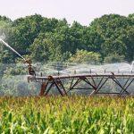 Irrigation system on a farm